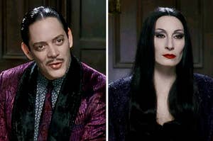 Gomez and Morticia Addams