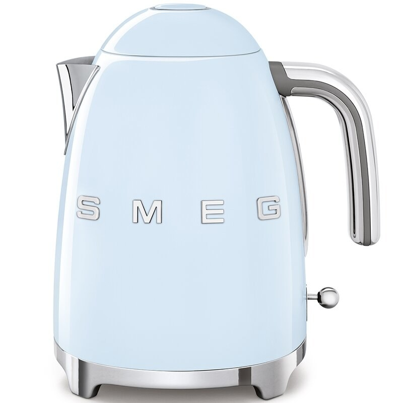 The baby blue electric tea kettle