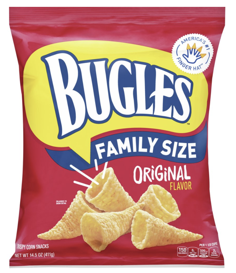A bag of family size bugles