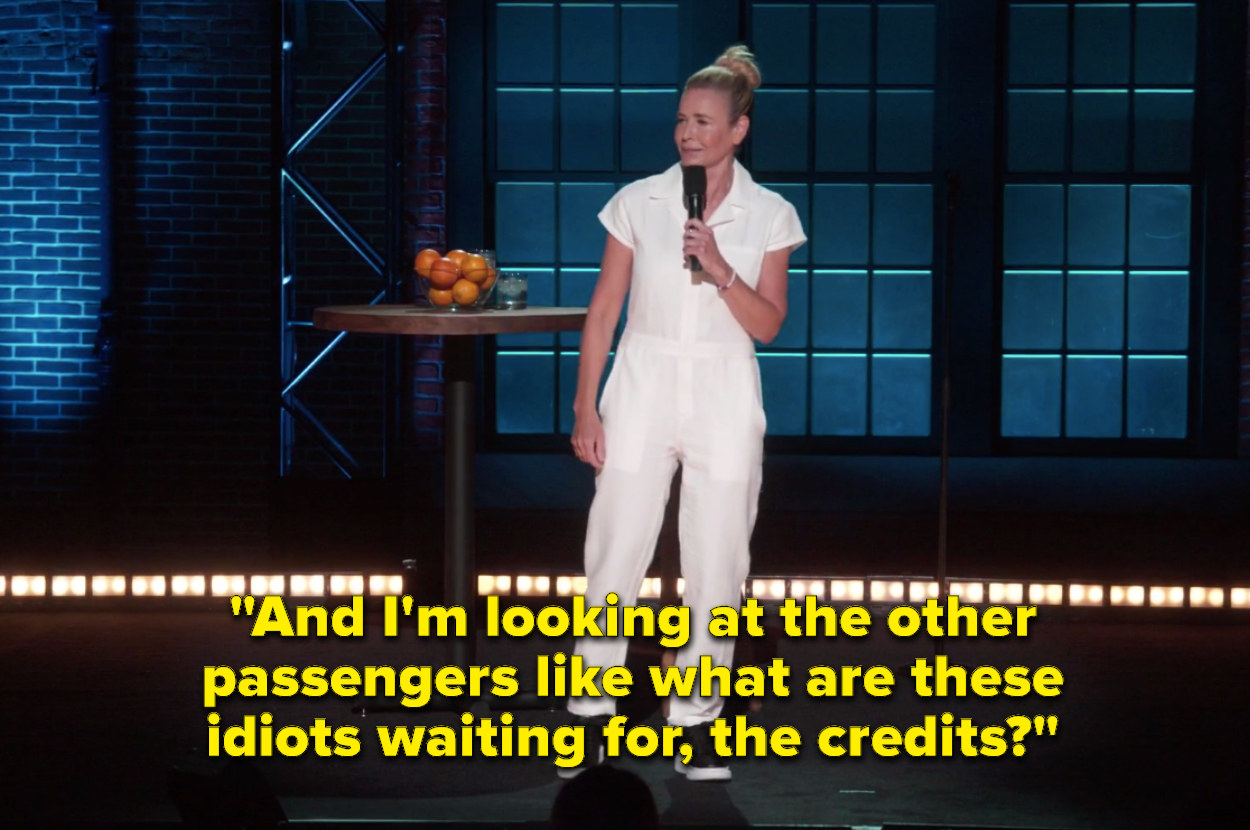 """Chelsea saying """"And I'm looking at the other passengers like what are these idiots waiting for, the credits"""""""