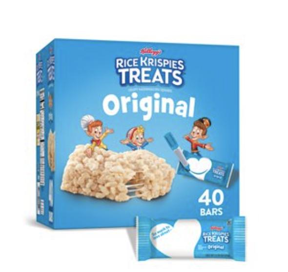 A box of rice krispies treats