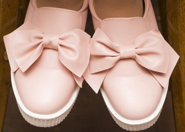 ballet flats with big bows