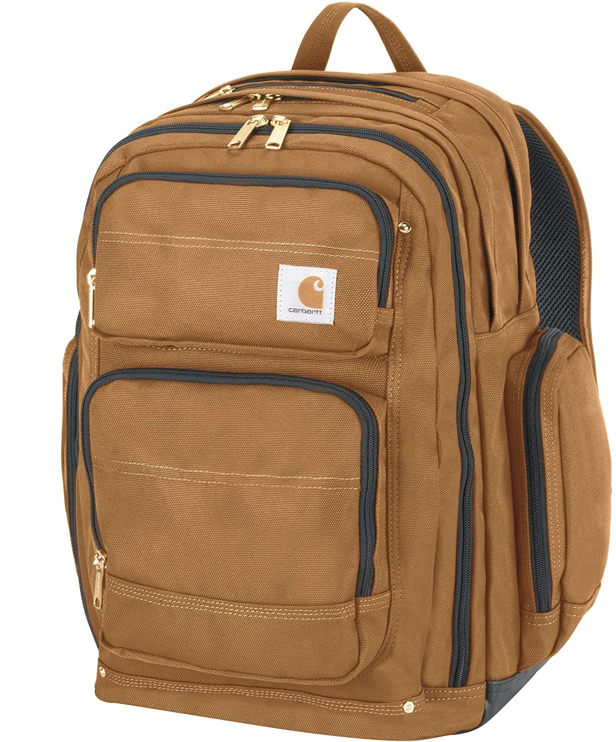 the backpack in brown