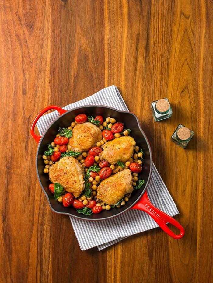 the Cast-Iron skillet with chicken dinner