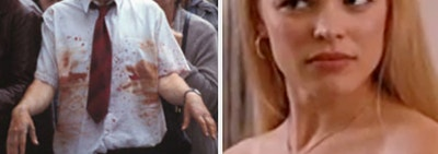 Shaun of the dead screenshot with 1% Zombie label and regina george confused face