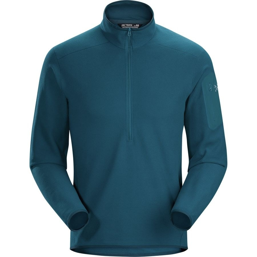 the fleece pullover with a high-neck
