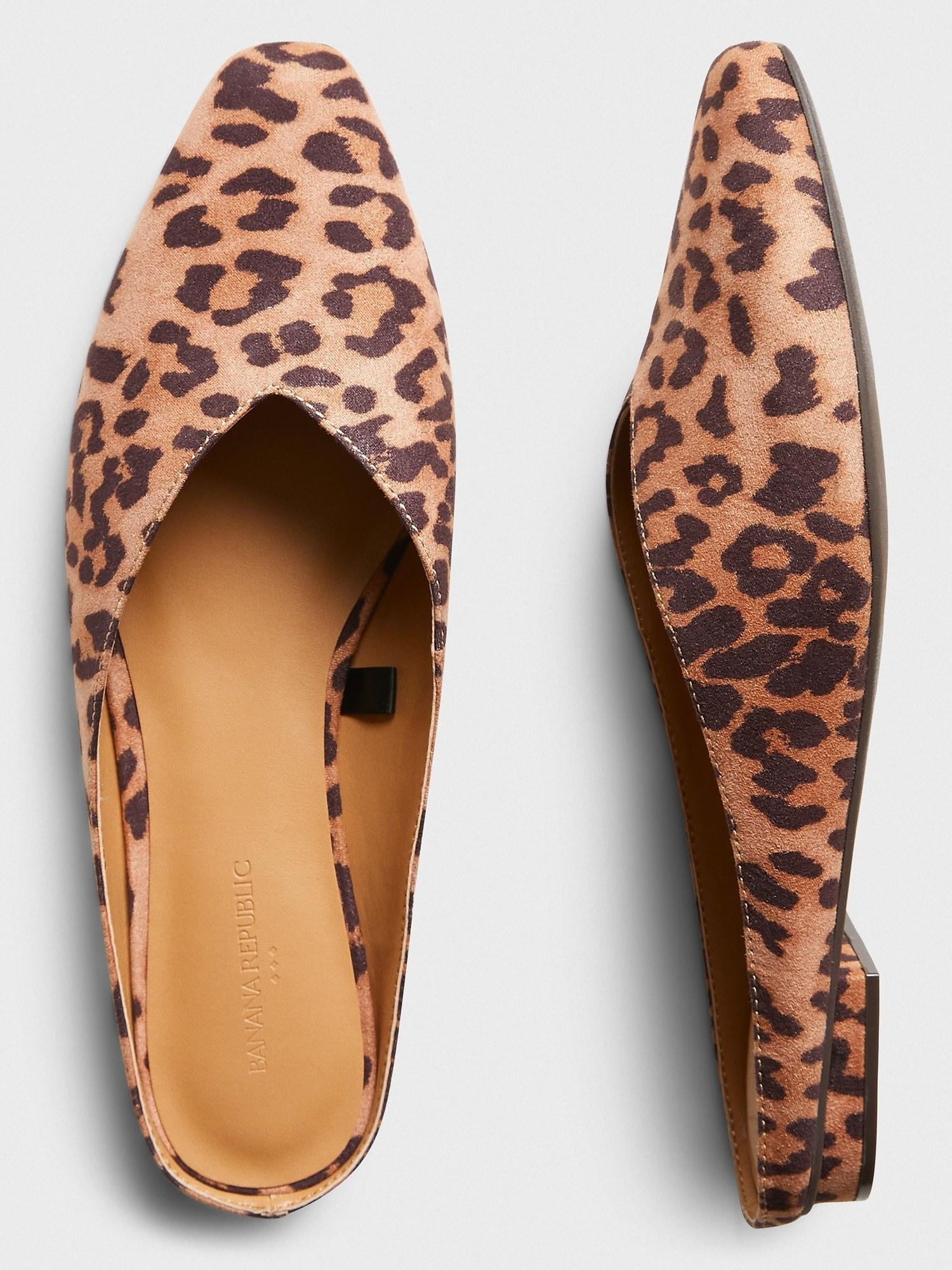 The leopard print shoes