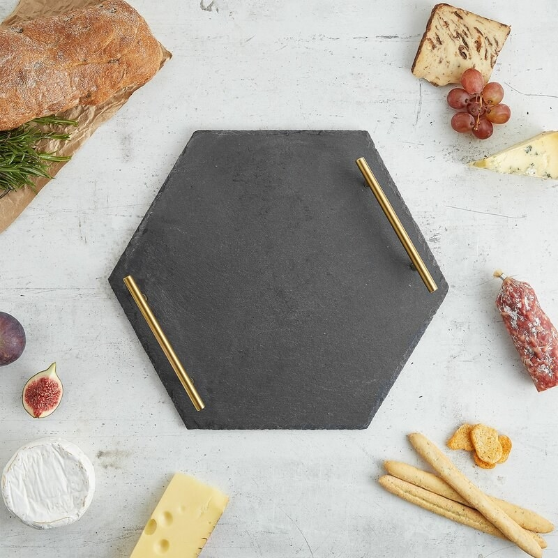 Slate gray serving tray