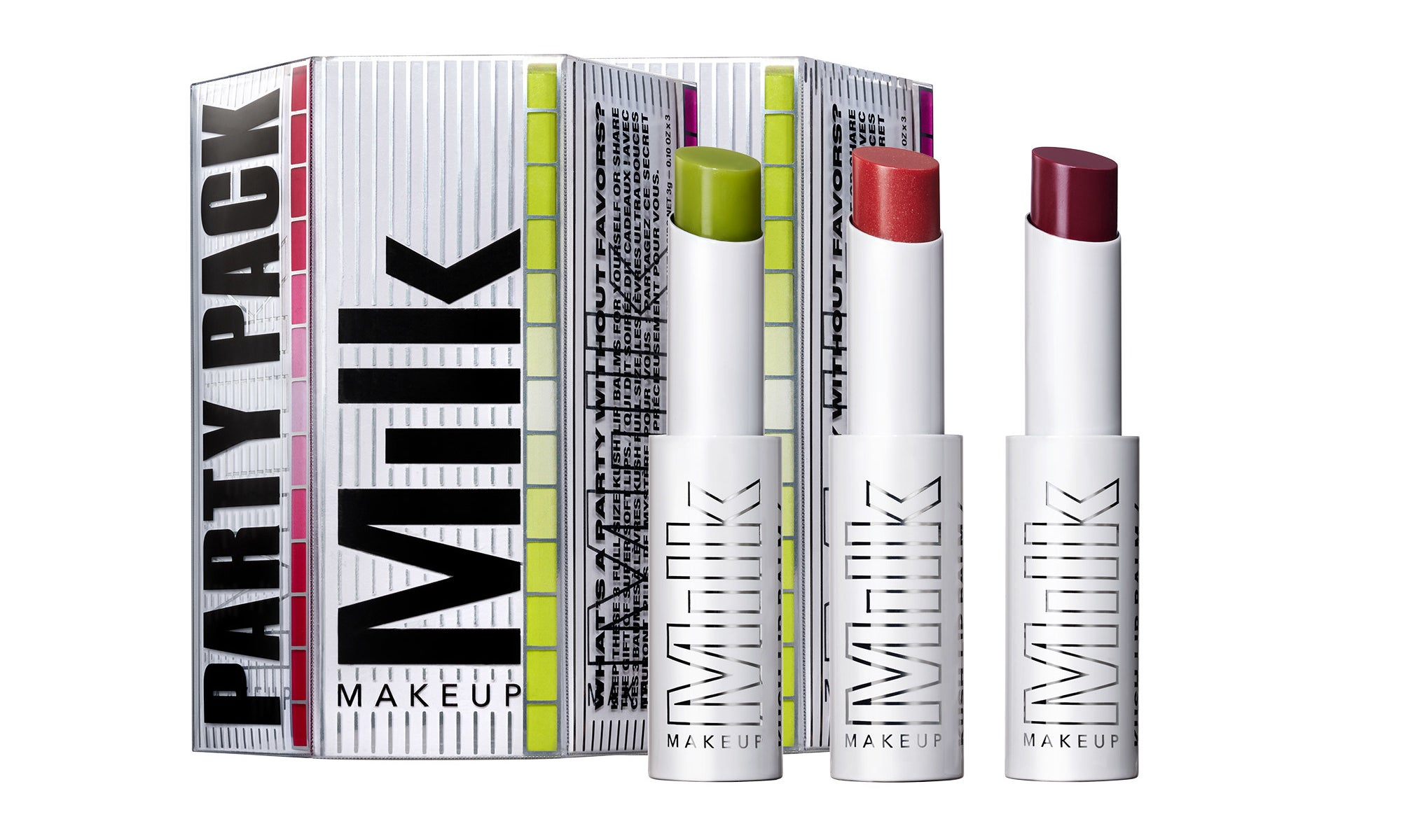 The milk makeup party pack kush lip balm trio