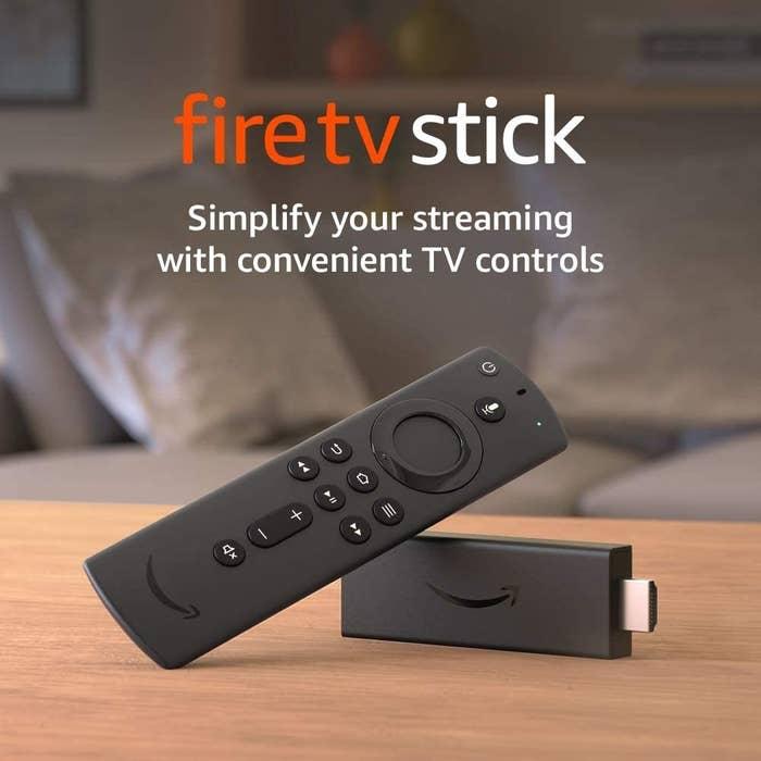 The HDMI stick and remote