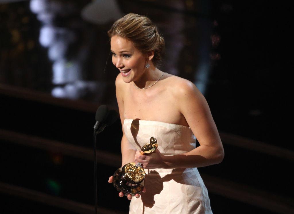 """Jennifer giving her """"speech"""""""