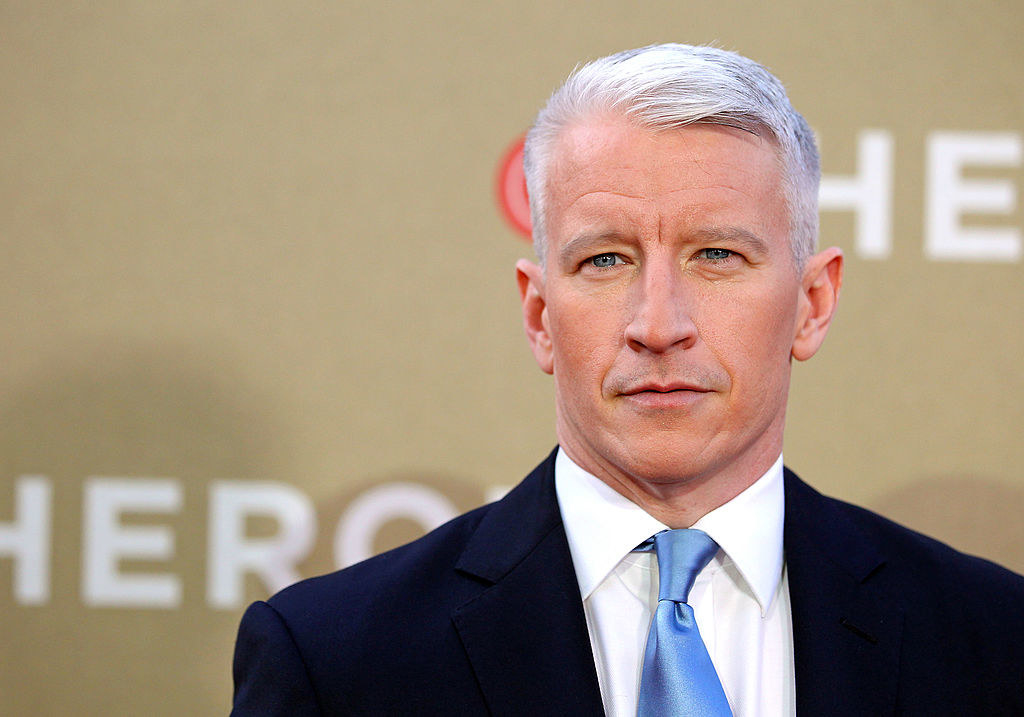 Anderson Cooper on the red carpet
