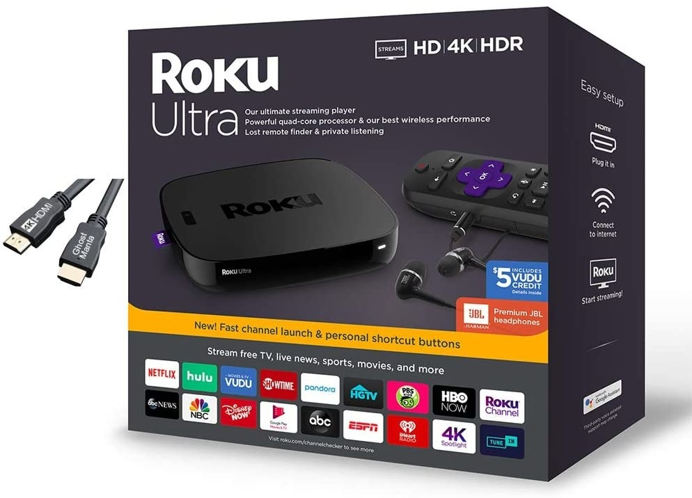 The Roku Ultra Streaming Media Player