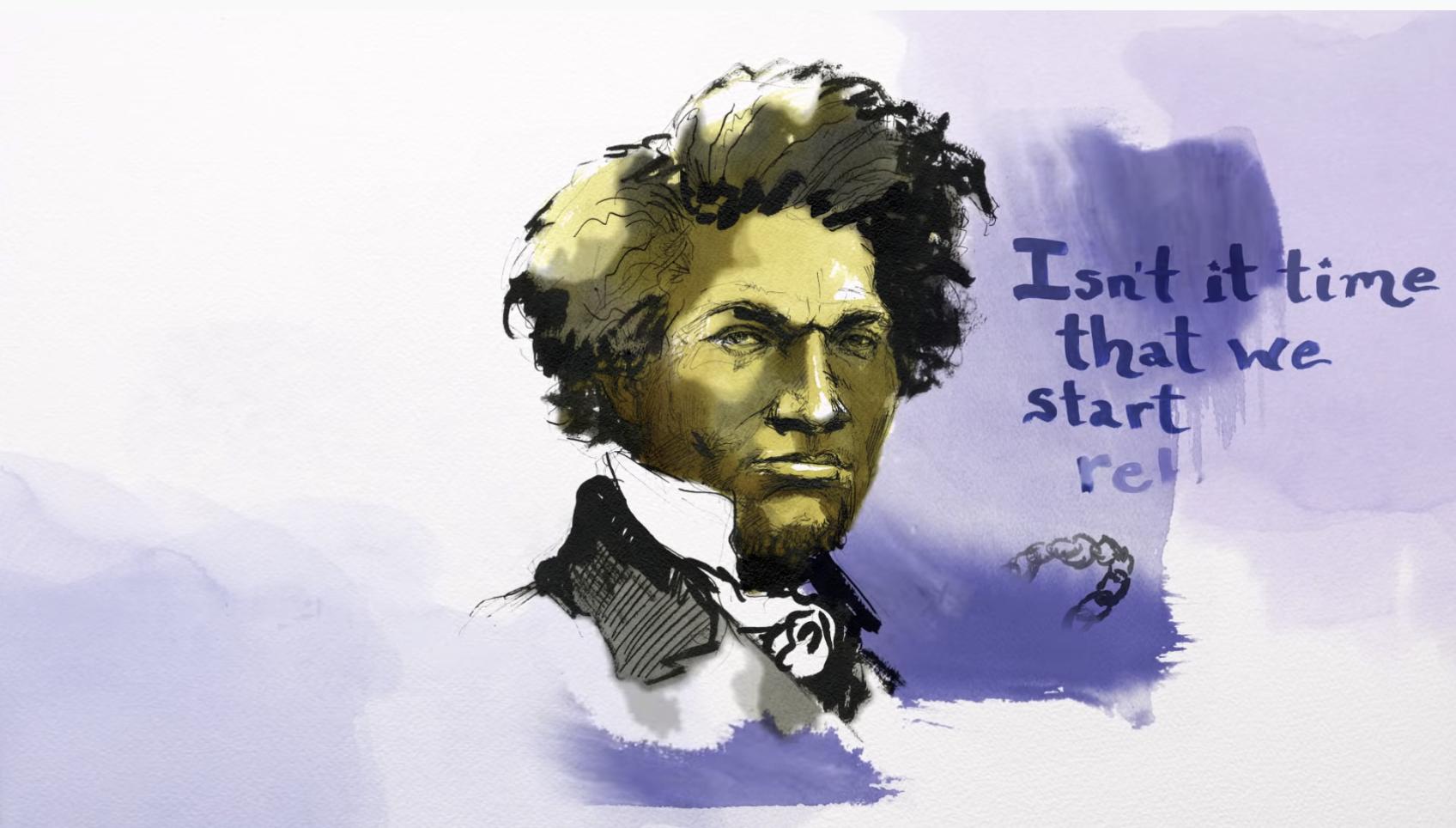 Frederick Douglass illustration