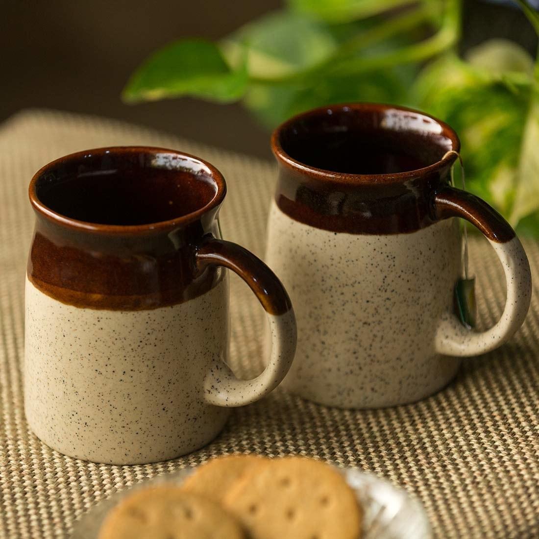 A set of ceramic mugs