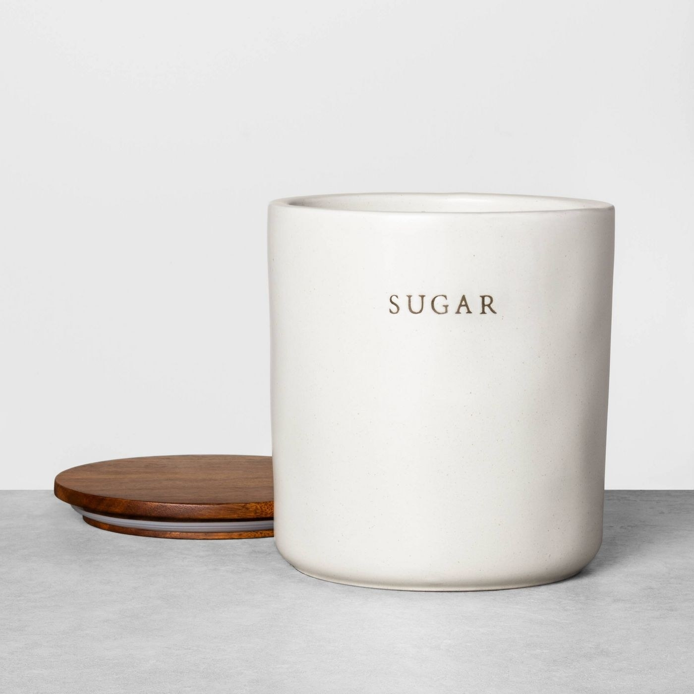 The sugar canister