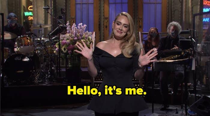 """Adele saying, """"Hello, it's me"""""""