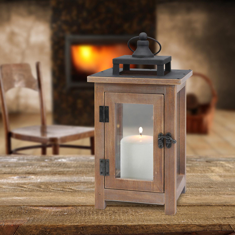 Wooden metal lantern
