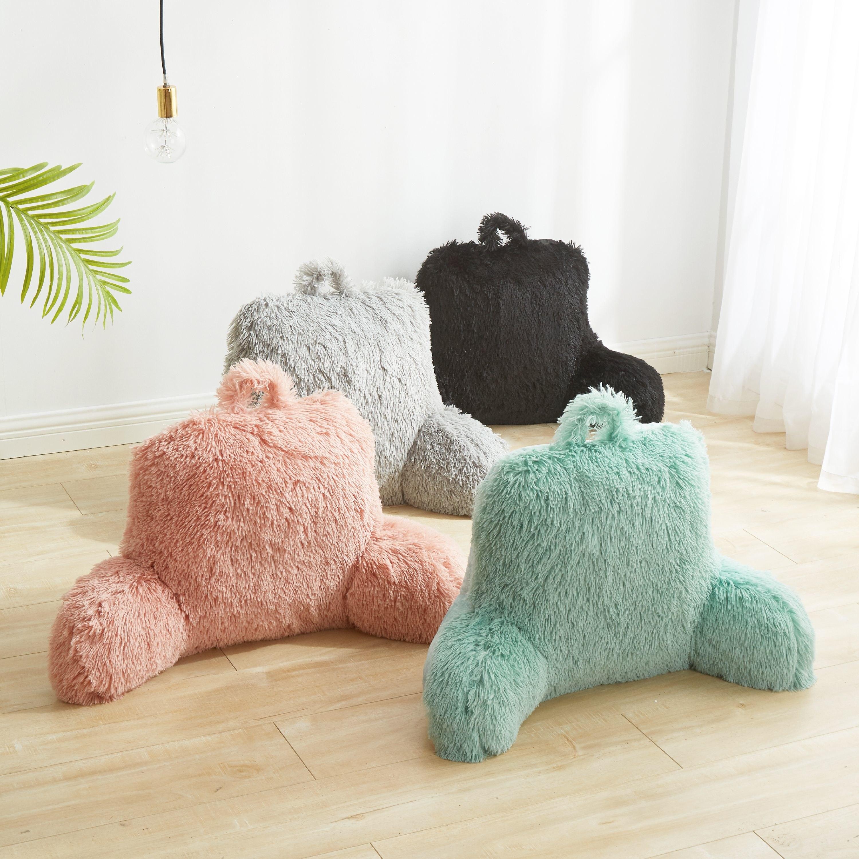 Faux fur backrest pillows