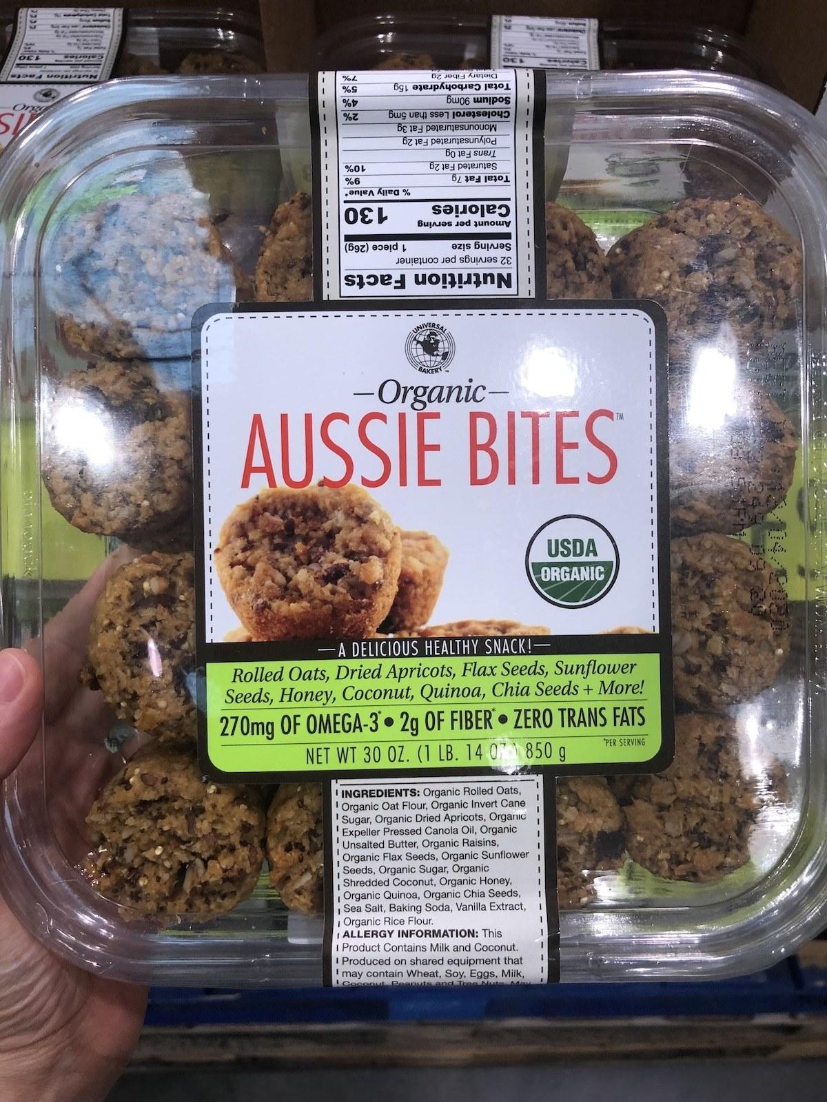 A box of Costco Aussie Bites