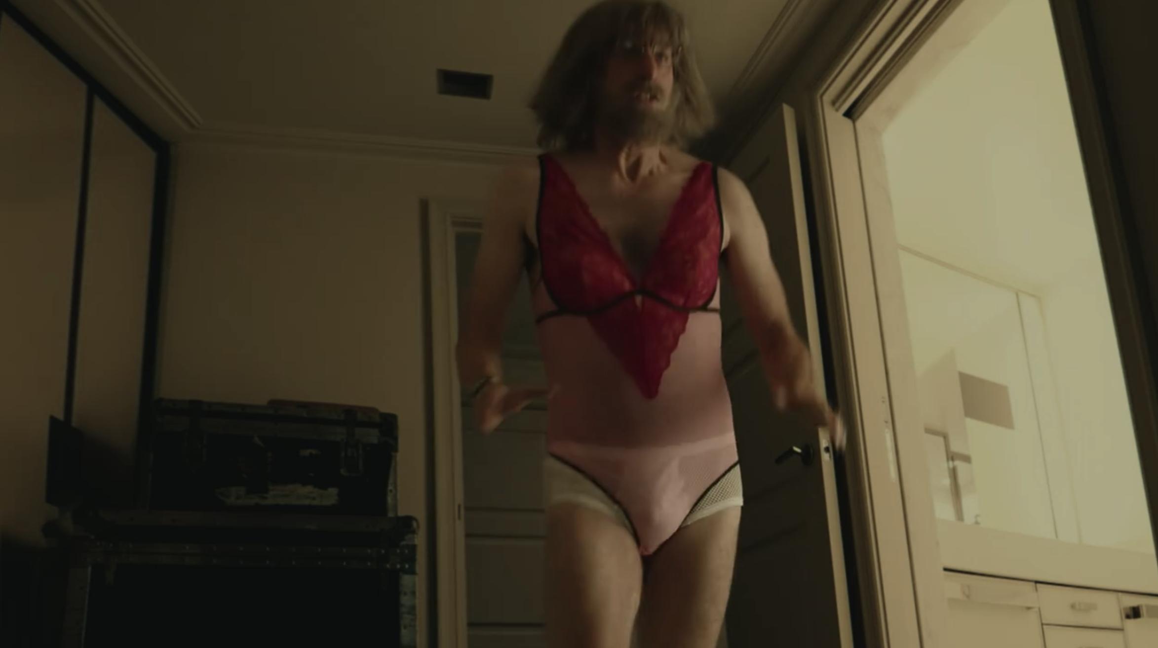Sacha wearing lingerie