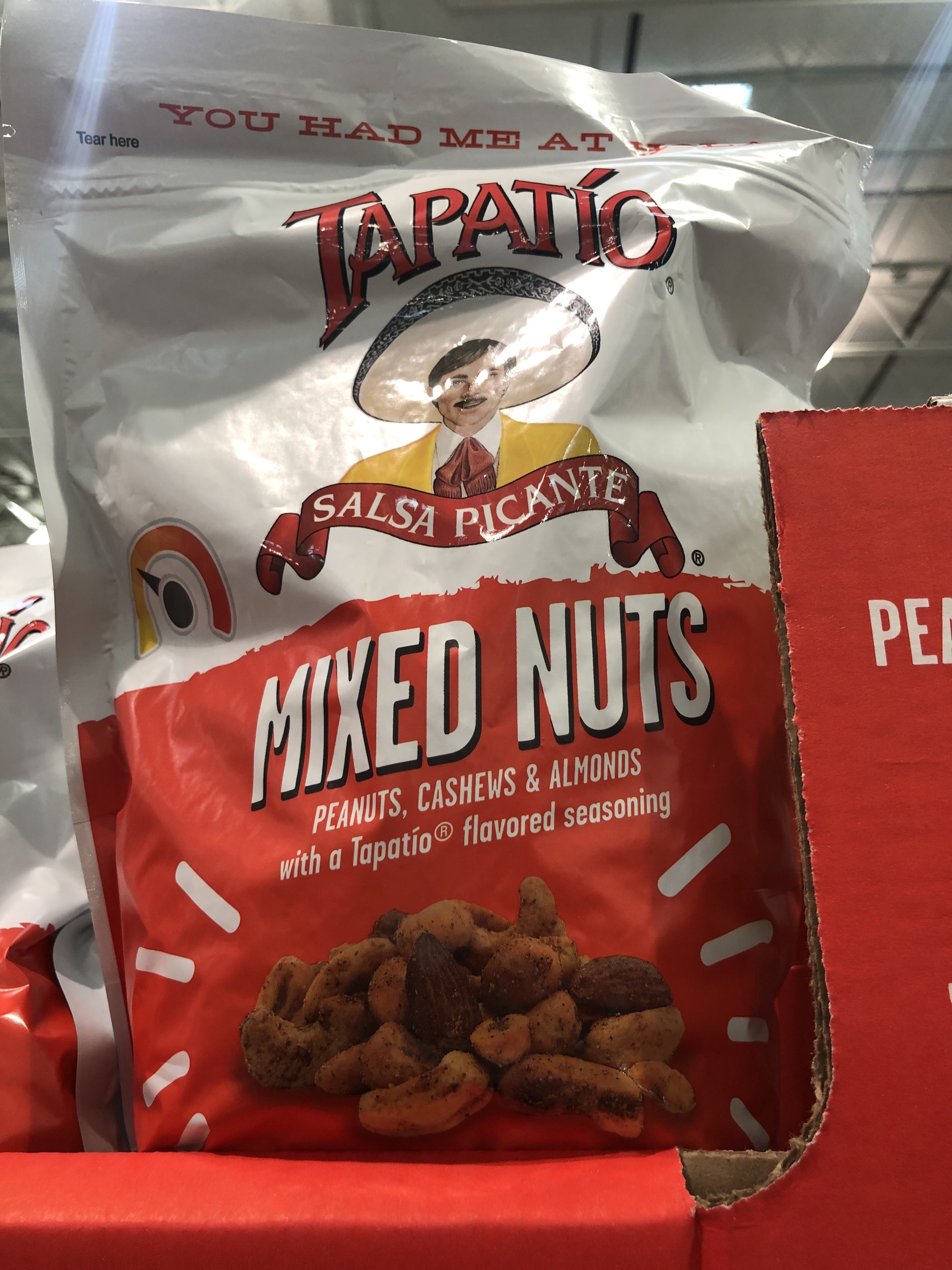 A bag of Tapatio mixed nuts