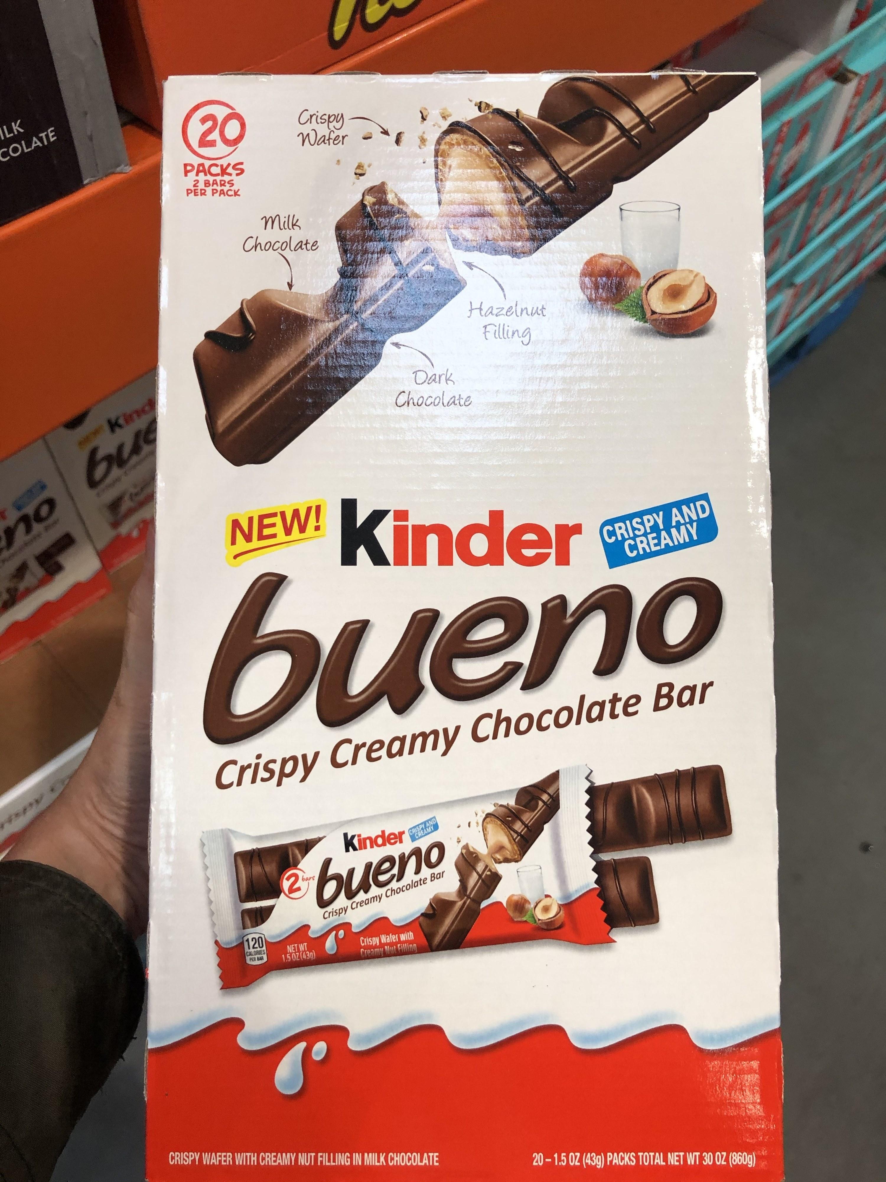 A box of Kinder Bueno bars