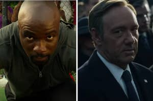 "Luke Cage is on the left with Francis from ""House of Cards"" on the right"