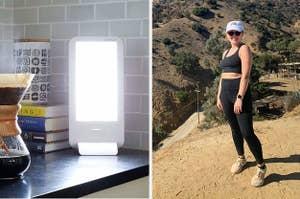 (left) Sunlamp (right) Black leggings