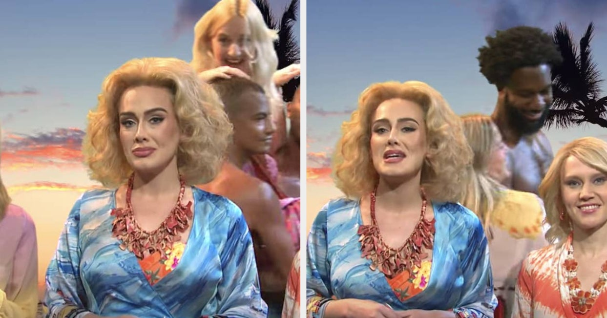 """Adele Broke Character During An """"SNL"""" Skit About African Tourism But That's Not The Only Reason It's Getting Attention"""