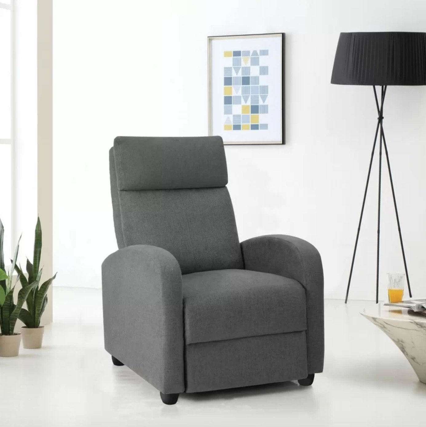 The massage chair in gray