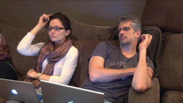 Actress Sarah Edmonson and filmmaker Mark Vicente.