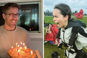 瑞安·雷诺兹用派来庆祝生日,艾米莉亚·克拉克用跳伞来庆祝生日