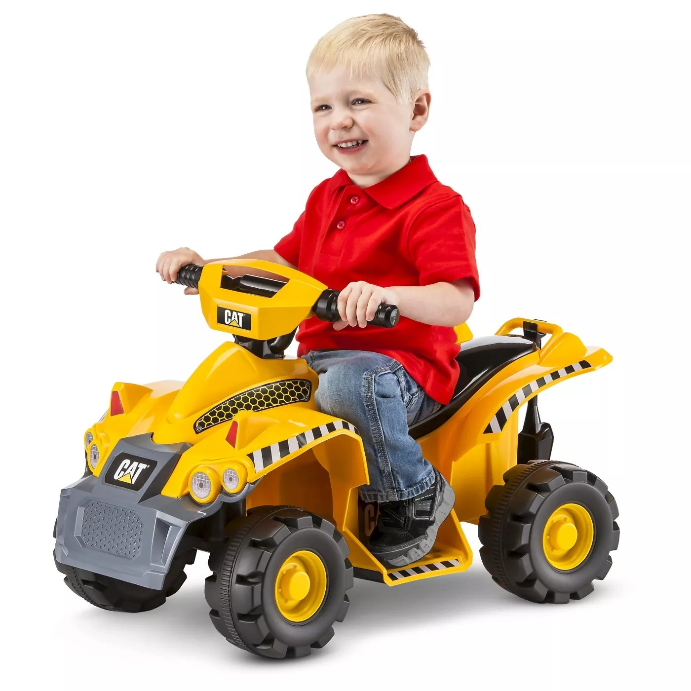 A child on his CAT tractor