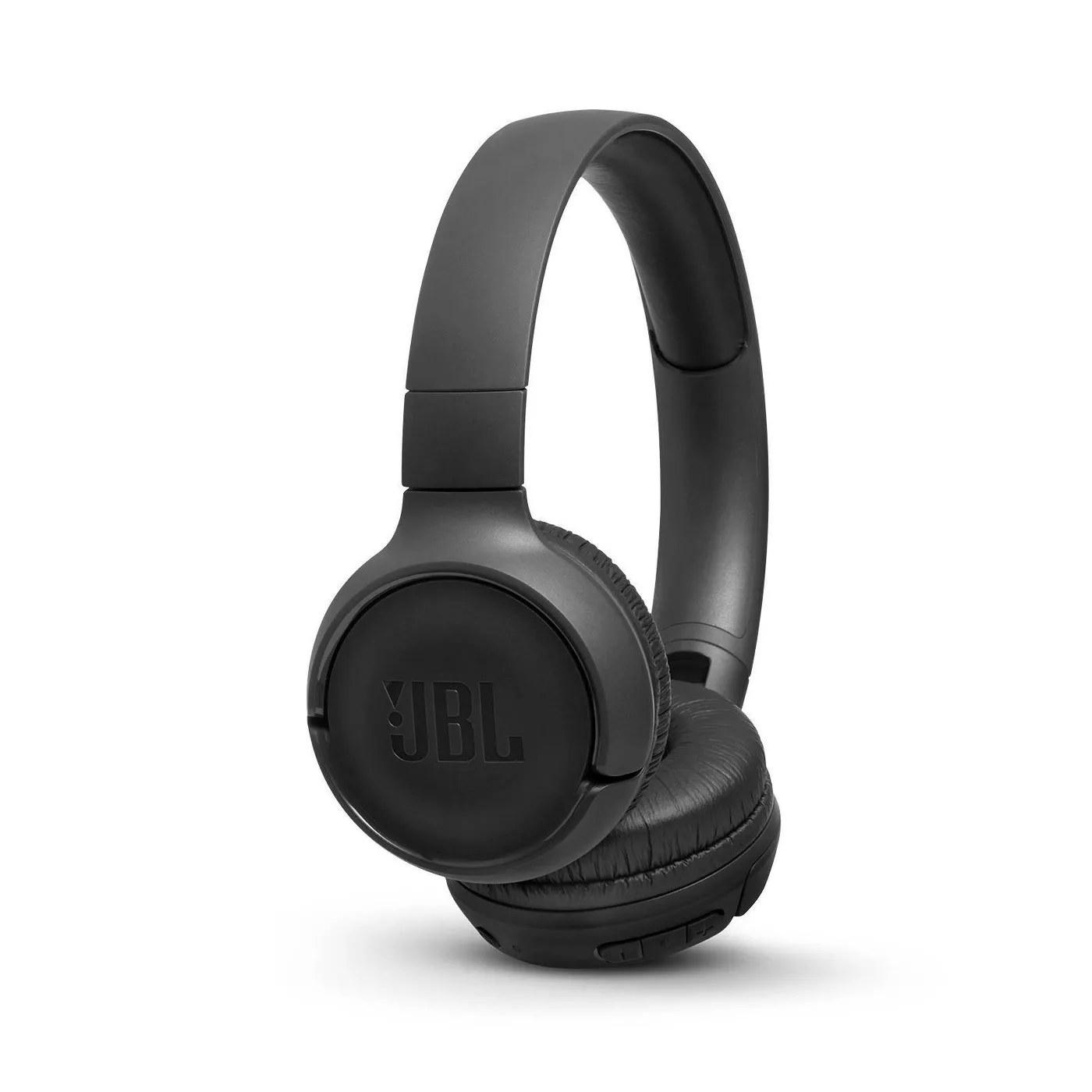 The black, JBL headphones