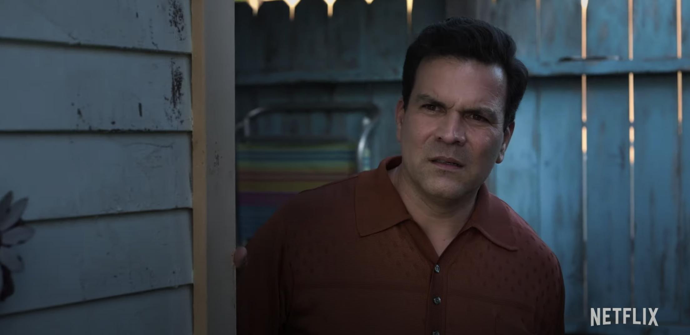 Ricardo Chavira as Abraham Quintanilla watches his young daughter singer