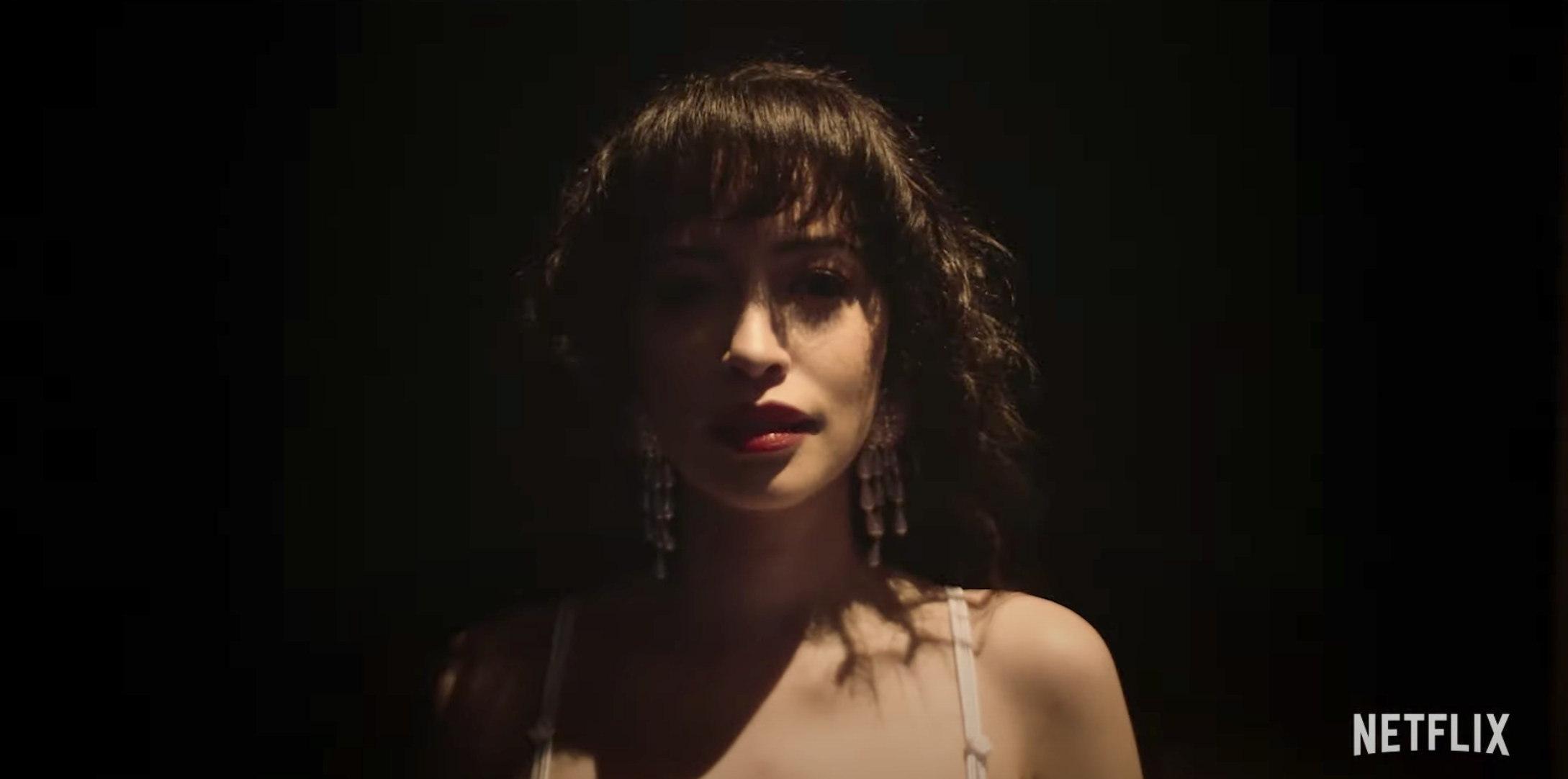 Christian Serratos as Selena right before she takes the stage