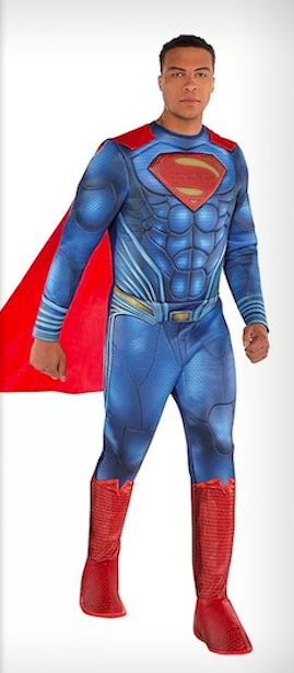 Dale Moss in a Party City Superman costume