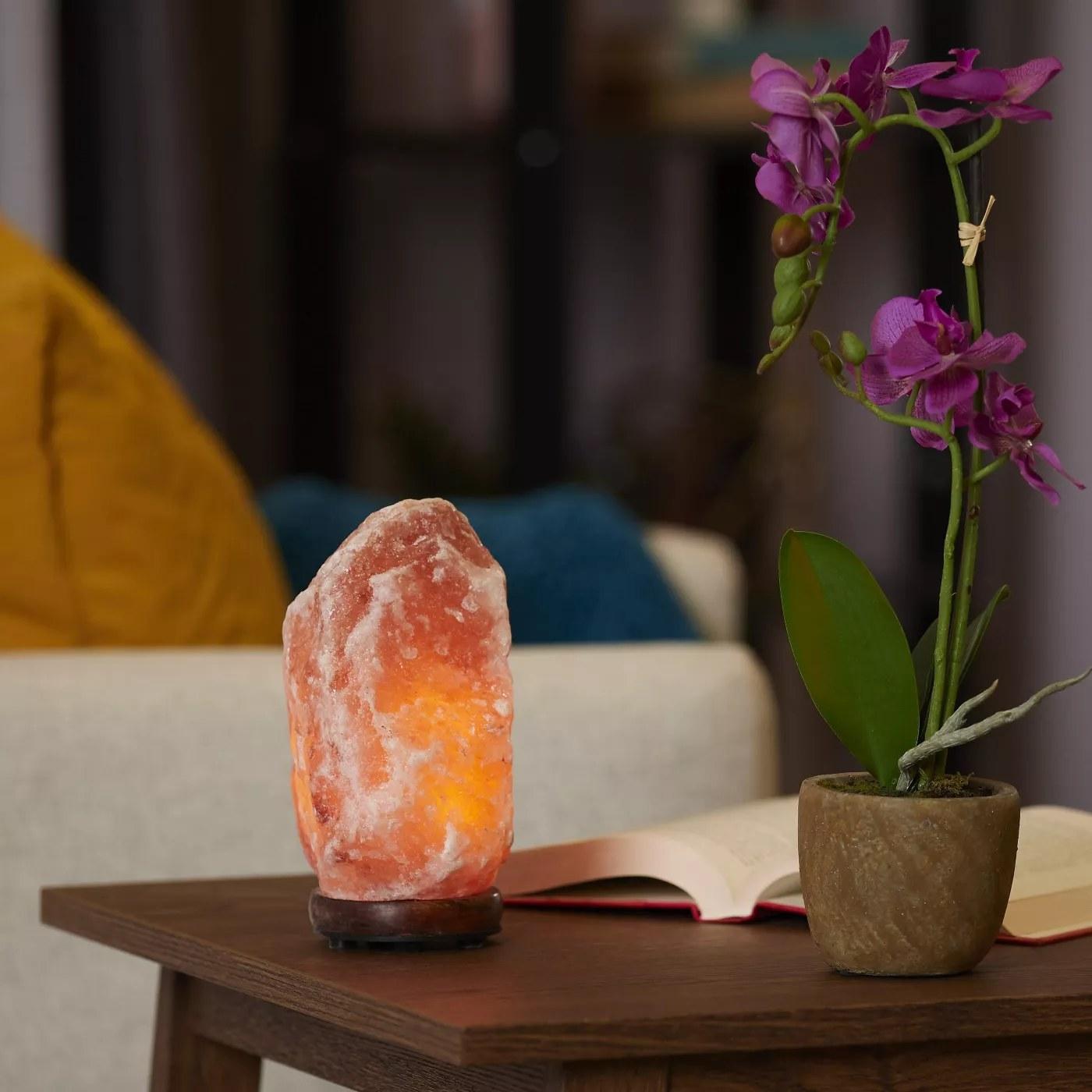 The salt lamp