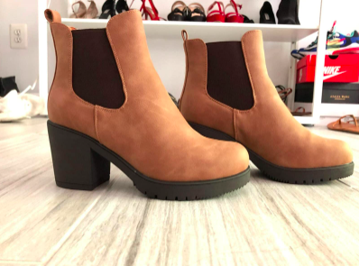 the boots in camel