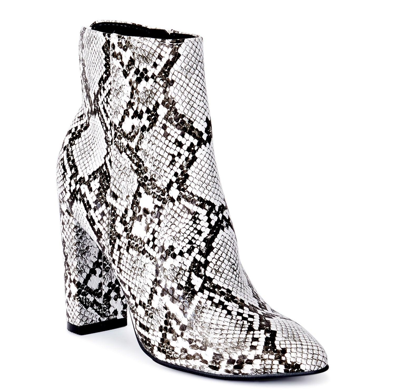 white snakeskin boot