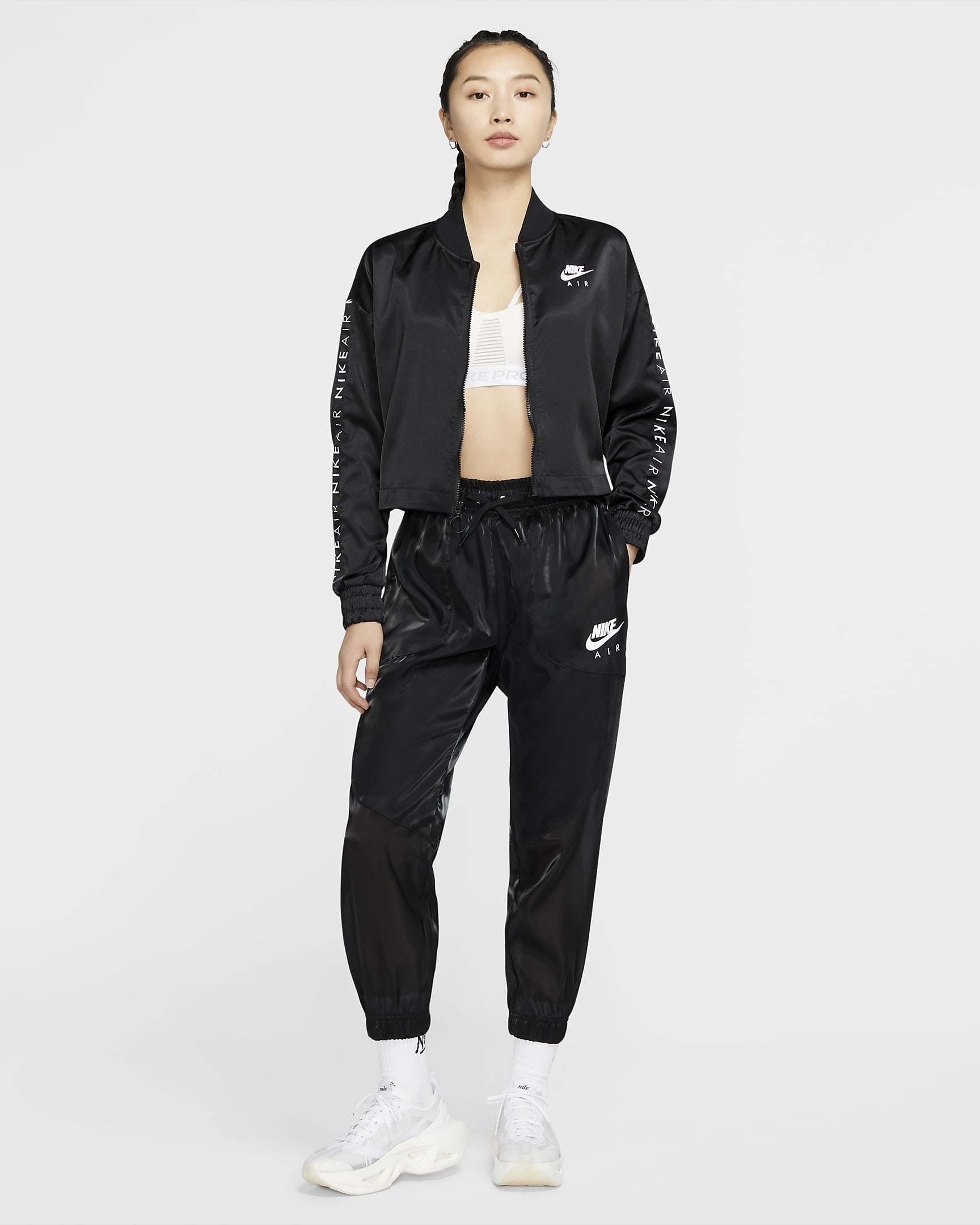 A model wears the nike air pants