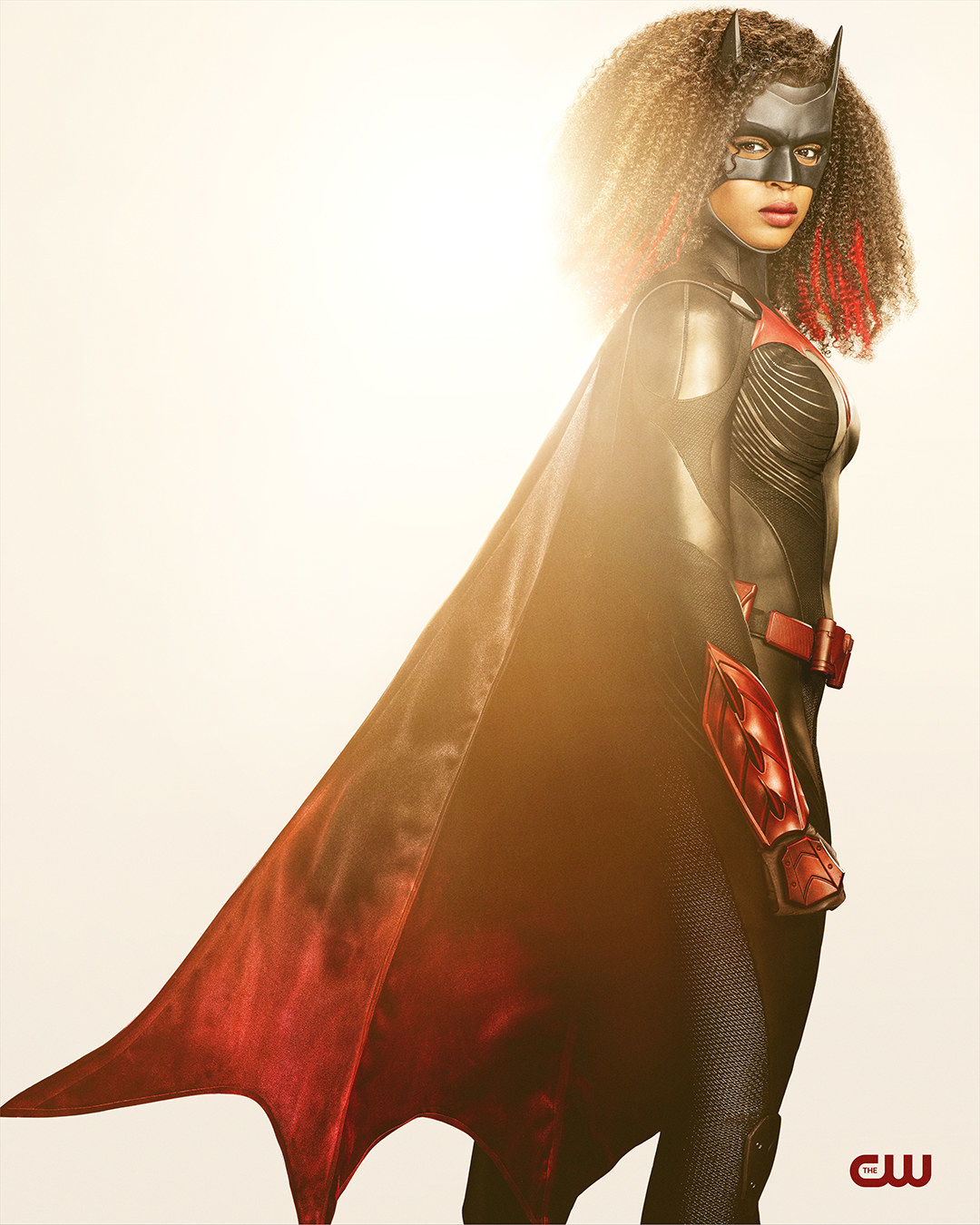 Javicia Leslie as Batwoman in the new Batwoman costume that features a new cowl