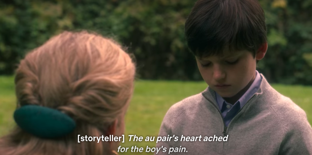 The au pair's heart ached for the boy's pain