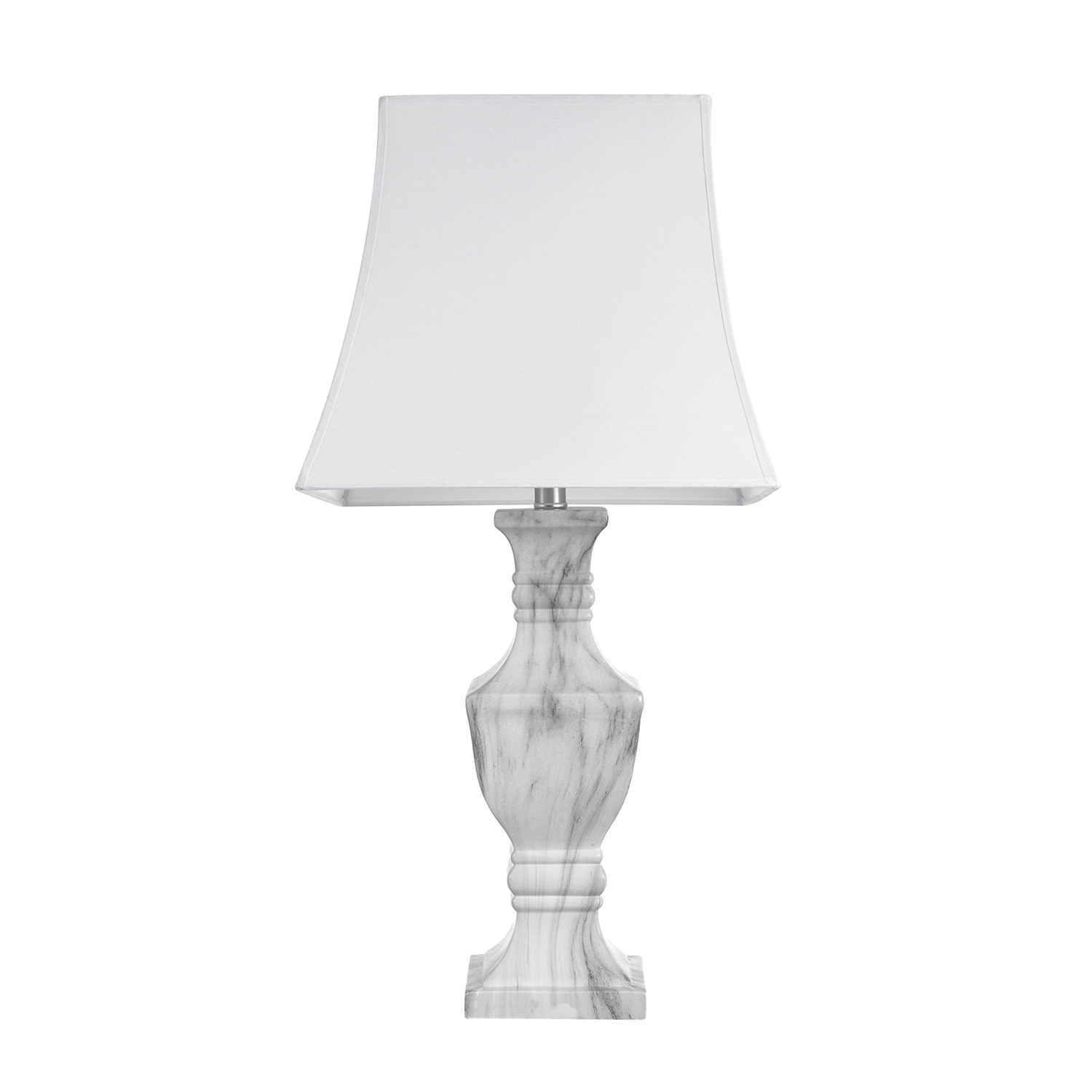 The white lamp and shade