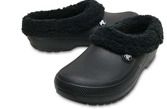 the Crocs in black