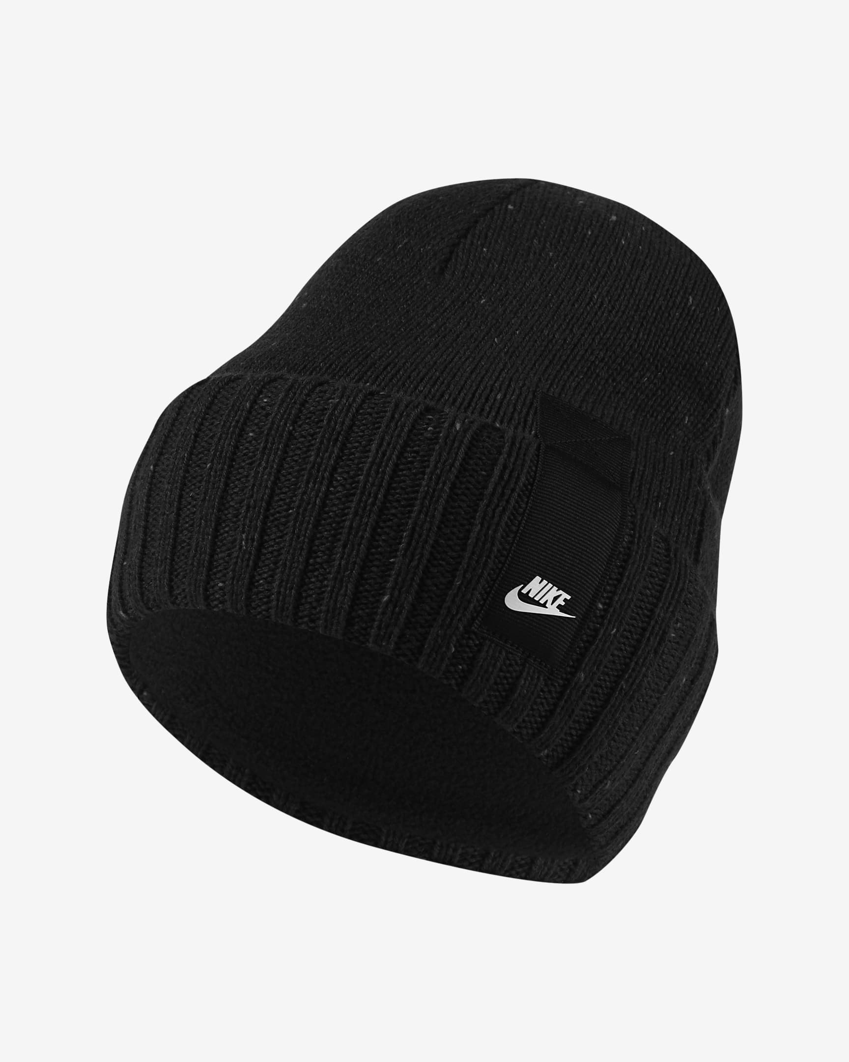 The black nike sportswear cuffed beanie