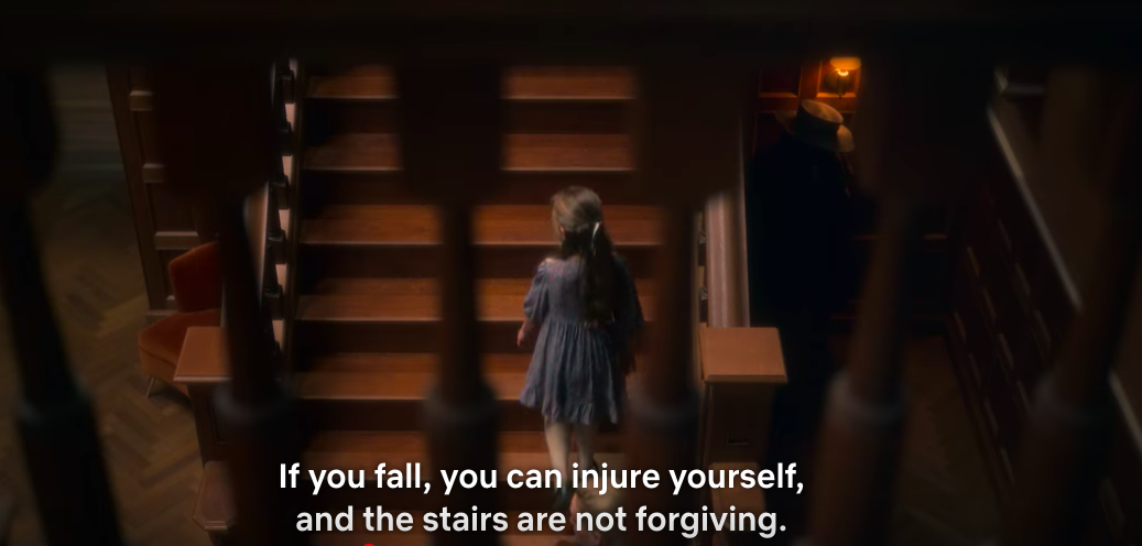 If you fall, you can injure yourself, and the stairs are not forgiving.
