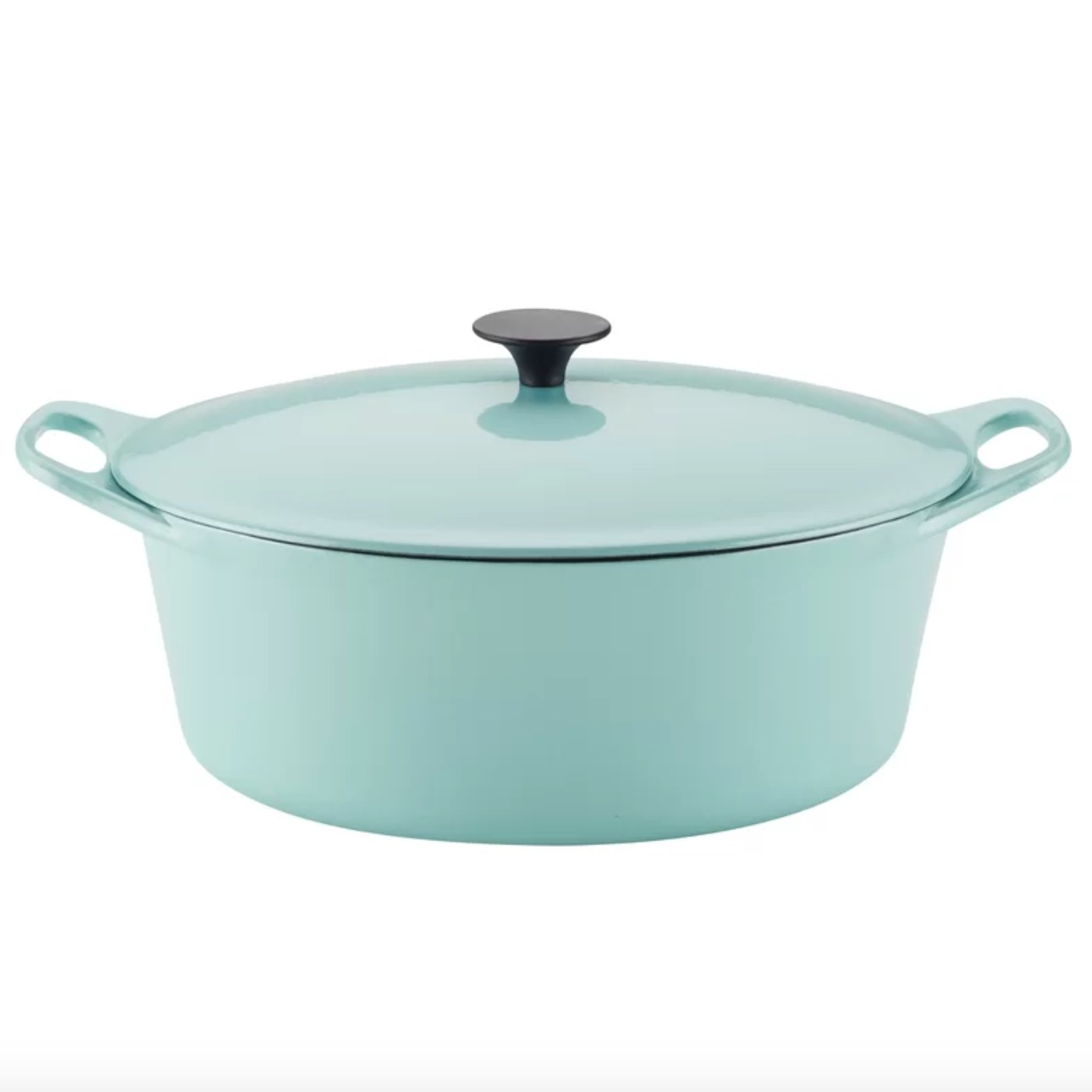 The cast-iron dutch oven in blue