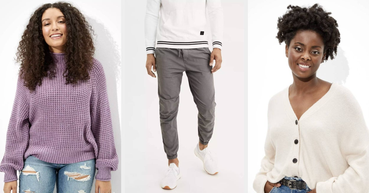 21 Cozy Items From American Eagle That Prove The Best Time To Wear A Sweater Is All The Time